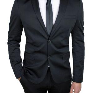 traje dos piezas negro