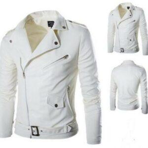chaqueta blanca de cuero