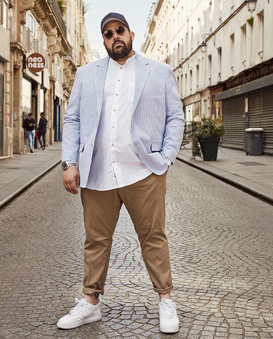 consejos de moda para el hombre gordo 2